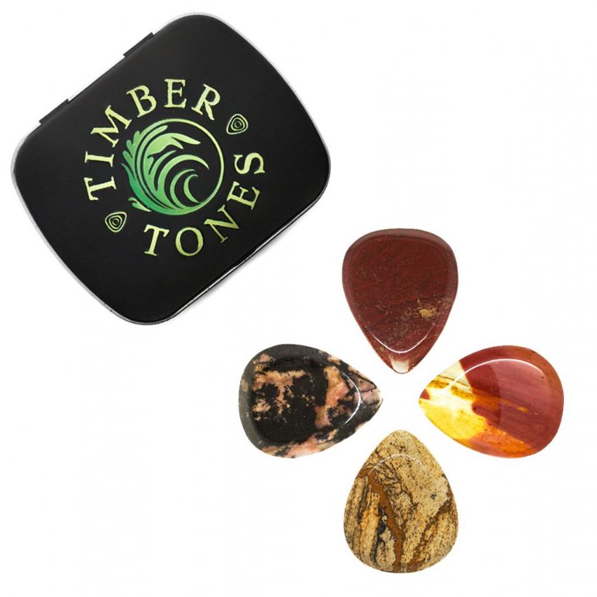 Jasper Tones Tin of 4 Jasper Guitar Picks | Timber Tones
